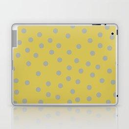 Simply Dots Retro Gray on Mod Yellow Laptop & iPad Skin