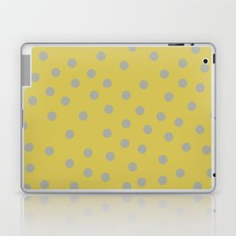 Simply Dots Retro Gray on Mod Yellow Laptop & iPad Skin