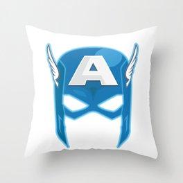 Cap America Mask Throw Pillow