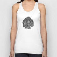 poodle Tank Tops featuring Poodle - black by Doggyshop