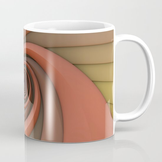 Spiral in Earth Tones Mug