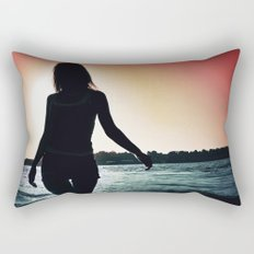 I Turn Around And You're On Fire Rectangular Pillow