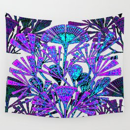 Fluo Deep Ocean Algae Large Wall Tapestry