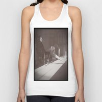 """cafe Tank Tops featuring """"Cafe Only"""" by Caitlyn Cold"""