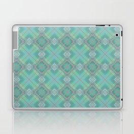 Blue green plaid . Laptop & iPad Skin
