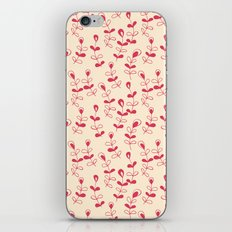 Doodle floral pattern in yellow and red iPhone Skin