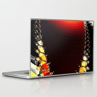 clock Laptop & iPad Skins featuring clock by donphil