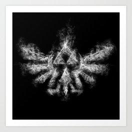 Triforce Smoke Art Print