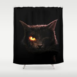 EAPoe's The Black Cat Shower Curtain