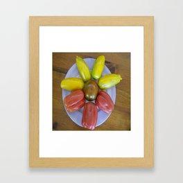 Heirloom Tomatoes - Circle of Goodness Framed Art Print