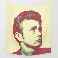james bond Wall Tapestries featuring James by victorygarlic