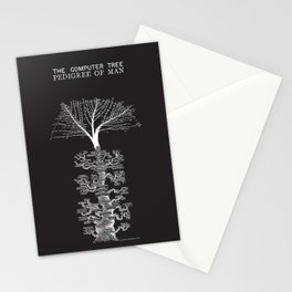 The Computer Tree Pedigree of Man Stationery Cards