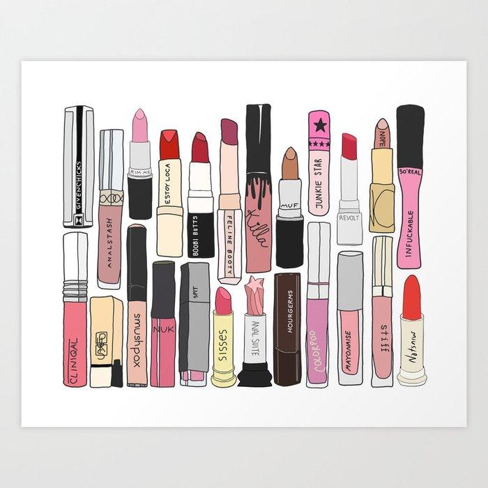 Lipstick Decoys Kunstdrucke