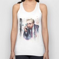 nicolas cage Tank Tops featuring Nicolas Cage by Olechka
