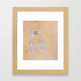 Mother, Father, Daughter Framed Art Print