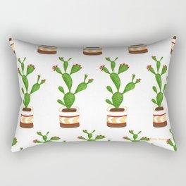 Flowering Cactus White background Rectangular Pillow