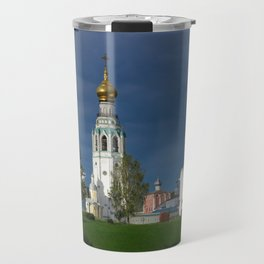 Landscape with the Ancient Saint Sophia Cathedral and Vologda Kremlin in the Russian North Travel Mug