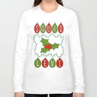 levi Long Sleeve T-shirts featuring Christmas Themed Squad Levi Print by Cutie Crafts