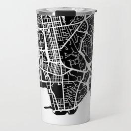 Street MAP Hong Kong // Black&White Travel Mug
