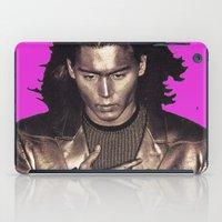 johnny depp iPad Cases featuring Johnny Depp forever by Joseph De Utia