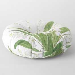 white lily of valley Floor Pillow