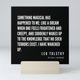 45   | Leo Tolstoy Quotes | 190608 Mini Art Print