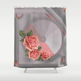 Pink & Grey Shower Curtain