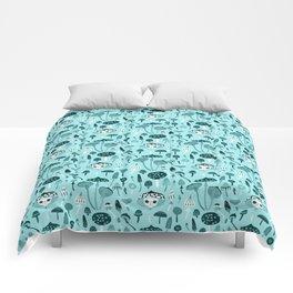 Mad Tea Party III - Mushrooms Comforters