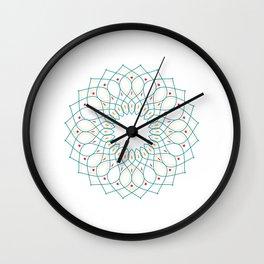 Colorful Pattern Mandala Wall Clock