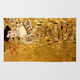 Woman in Gold Portrait by Gustav Klimt Rug