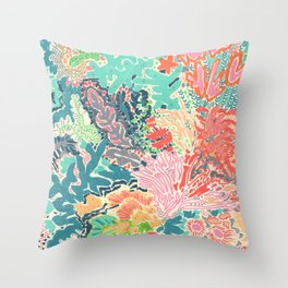 Reef Rhapsody Throw Pillow