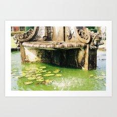 Water by a Fountain Art Print