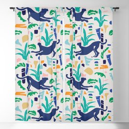Modern Shapes / Panther and Palm Blackout Curtain