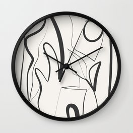 Abstract line art 9 Wall Clock