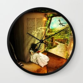The Book Of Secrets Wall Clock