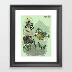 9 lives - game over Framed Art Print