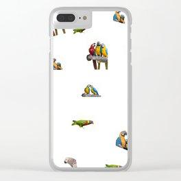 isolated ara ararauna parrot Clear iPhone Case