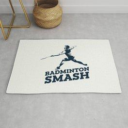 Badminton Player Rug