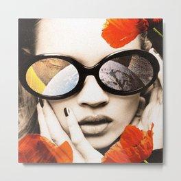 poppy pop (kate Moss) Metal Print