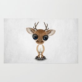 Cute Curious Baby Deer Calf with Big Eyes Rug
