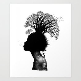Natural Black Woman Art Print