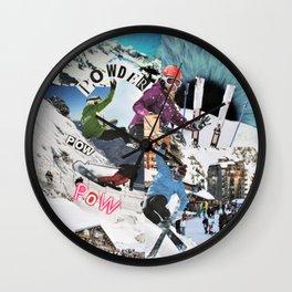 Pow pow Powder Wall Clock