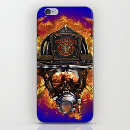 Firefighter rescue volunteer iPhone Skin