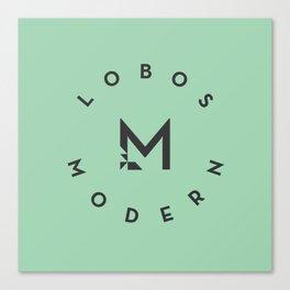 Lobos Modern Lockup Canvas Print