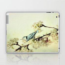Nuthatch Bird Spring Flower Farmhouse Art Country Home Decor  A131 Laptop & iPad Skin
