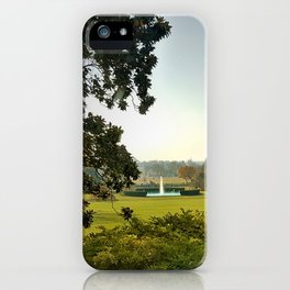 Fountain on the lawn iPhone Case