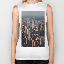 Empire State Building seen from a plan Biker Tank