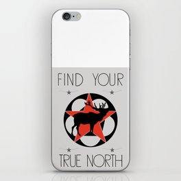 True North Elk Cabin Art iPhone Skin