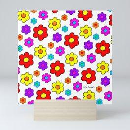Pop Flowers Mini Art Print
