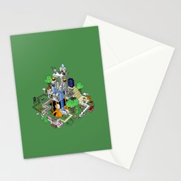 Mine City Stationery Cards